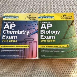 The Princeton review AP chemistry AP biology books